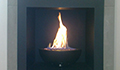 caminetto a gas con incasso - Firebowl Small Nera